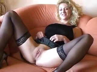 German blonde has a dirty conversation masturbating say no to pussy