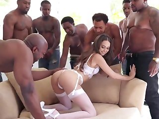 Heavy Negro Load of shit Group Sex Riley Reid