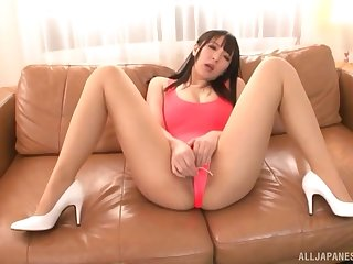 Pussy play on touching gorgeous Japanese Mashiro An and every so often of toys
