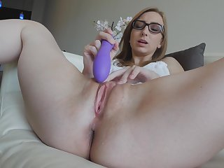Gracie reaches intense screaming orgasm and licks her own pussy juices