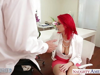 Redhead rendezvous infant Siri fucking