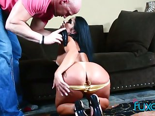 Bootyful inclusive goes wild on a hard cock added to gets her anus rammed