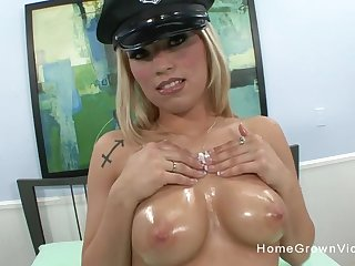 This naughty slut loves playing with the brush big bosom but loves riding a hard cock even more!