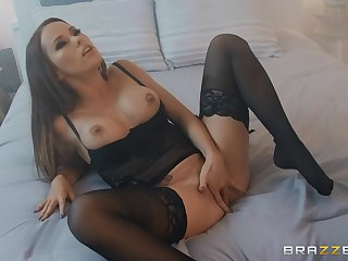 Megan Rain wears sexy lingerie be proper of fucking with the brush handsome friend