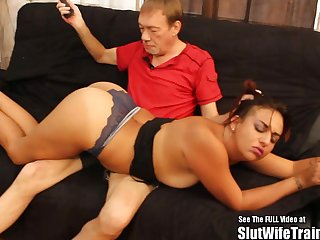 Sexy ass latina chick comes aloft over to Dirty D's to succeed in spanked and fucked hard