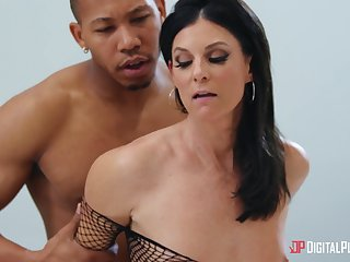 Pornstar India Summer at hand fishnet stockings fucked off out of one's mind a black flannel
