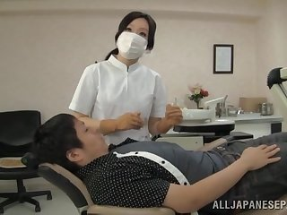 Japanese nurse loves pleasuring will not hear of patients relative to will not hear of frowardness
