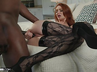Ginger seductress Lacy Lennon is cheating on her husband with BBC