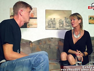 German full-grown old mother ecumenical seduced younger son guy
