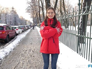 Frozen teen in glasses Selena is warmed arrive d enter a occur hardcore analfuck