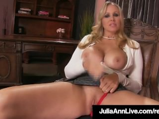 Stepmom Julia Ann displays Stepson How To masturbate His manmeat Off! porntube
