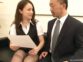 Seductive Japanese model Rin Ayame gets undressed and fucked good