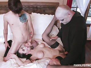 Addams qualifications travesty reveals insane scenes be advantageous to rough sex