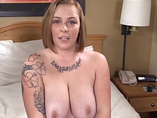Honcho Phat Strawberry Blonde is Astonished & Gets her 1st Obese Black Cock!