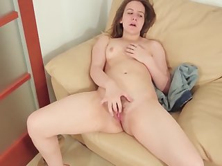 Ingrid Struts Her Hairy Pussy