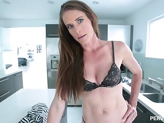 Skinny tenebrous babe adjacent to a navel piercing, Sofie Marie is waiting to get a huge cock