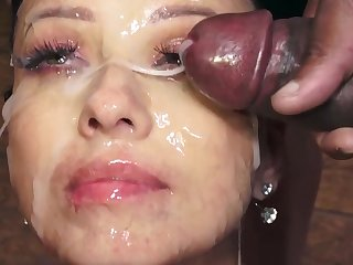 Vicky Love swallows 48 huge gnaw cumshots
