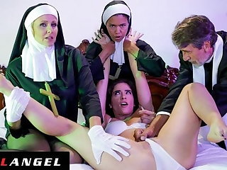 Priest & Nuns Fuck The Vampire Outside Of Possessed Slut