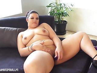 Obese whore thrilling solo hot instalment