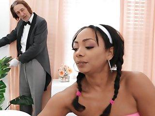 Hardcore interracial having it away with hot ass ebony girl Cali Caliente