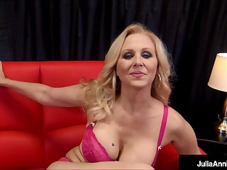 Busty Milf Julia Ann Drains A Lucky Hard Cock On touching A Blowjob And A Handjob!
