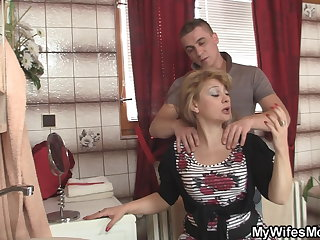 Guy caught cheating with girlfriend's hot mom