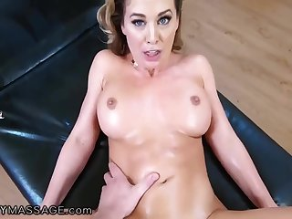 POV Hardcore Massage Hot MILF Cherie DeVille Rides Step Son's BFFs Cock POV - Pornstar