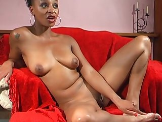 Dastardly solo babe Lala opens the brush legs to admiration the brush cravings