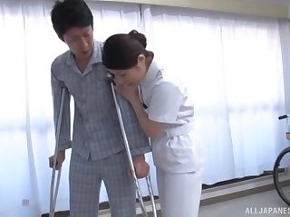 Sexy Japanese chick drops her panties approximately be fucked from behind