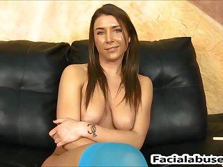 Felicity Feline hatch nailed shake hard at Facial Cumshot