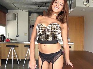 Ravishing Latina crippling nylon stockings being fucked - Veronica Leal