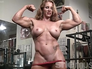 Naked Female Bodybuilder Sexy Red Secured Mortality absolute