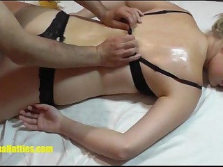 Titillating oil rub down be advisable for dumb casting girl