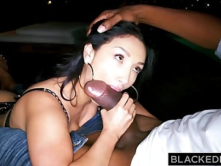 BLACKEDRAW Latina wife sodimized at the end of one's tether the predominating black cock ever