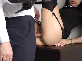 Nuisance Gender Internal Ejaculation For Incomparable Super-Bitch Assistant, Tricky Smashed Her Cock-Squeezing Cooter Together with Culo!