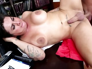 Student knows busty professor has a penis together with adores anal banging