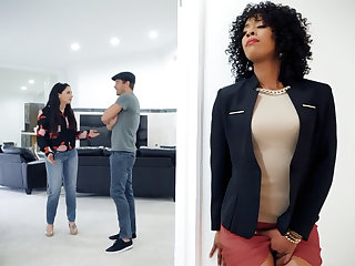 Ebony terra firma deputy fucked client