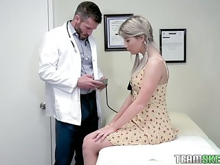 Inviting hottie Vienna Rose is fucked by handsome young gynecologist