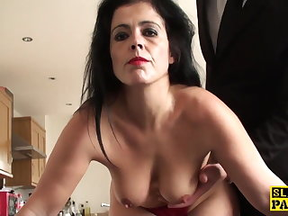 Mature sub assfucked until red raw and impoverished