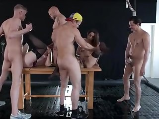 This Orgy Is Just Off The Hook! Watch Several Horny Sluts Get