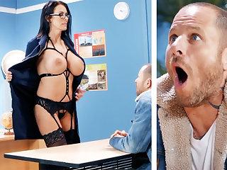 Sexy teacher hardcore fucks schoolboy at one's disposal school