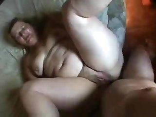 Broad in the beam Brazilian blond hair lady's amateur sex nail